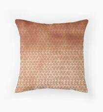 Basket concept - copper look Throw Pillow