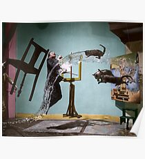 Póster Dali Atomicus - por Philippe Halsman - coloreado