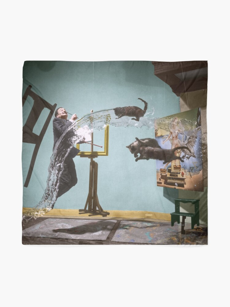 Alternate view of Dali Atomicus - by Philippe Halsman - colored Scarf