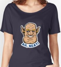 """Justin The Ogre """"Ah, Neat!"""" Women's Relaxed Fit T-Shirt"""