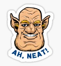"Justin The Ogre ""Ah, Neat!"" Sticker"