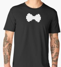 Pixel White Bow Men's Premium T-Shirt