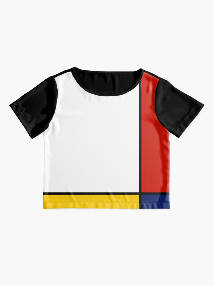 Alternative Ansicht von Mondrian-Art-abstrakte Kunst Chiffon Top