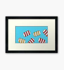 Happy Marshmallows Framed Print