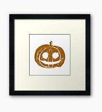 Pumpkin Jack Hand Print Framed Print