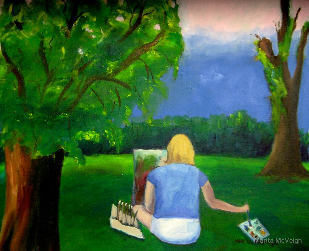 Painting Plein Aire by Marita McVeigh