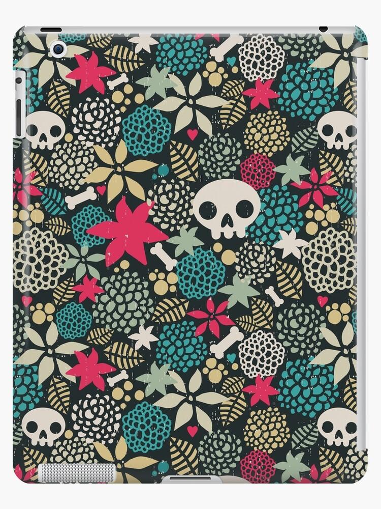 Skulls and flowers (2) by Ekaterina Panova