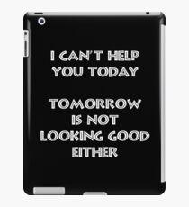 I can't help - White iPad Case/Skin