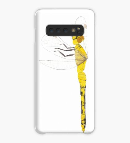 Yellow Dragonfly Case/Skin for Samsung Galaxy