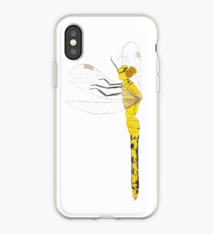 Yellow Dragonfly iPhone Case