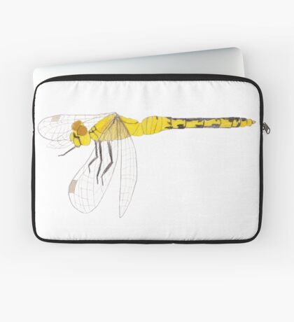 Yellow Dragonfly Laptop Sleeve