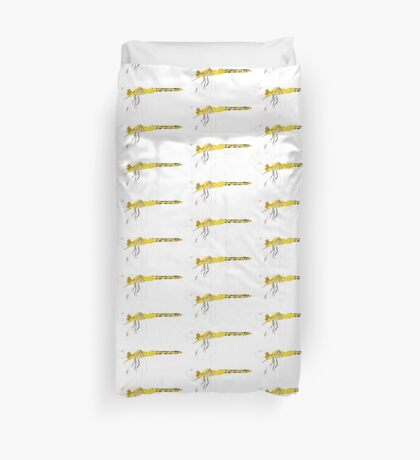 Yellow Dragonfly Duvet Cover