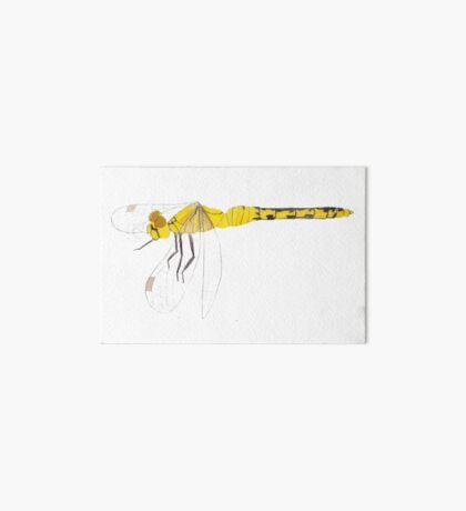 Yellow Dragonfly Art Board Print
