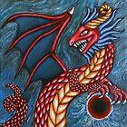 «pintura del dragón del eclipse solar 16/09/17» de Shellaqua