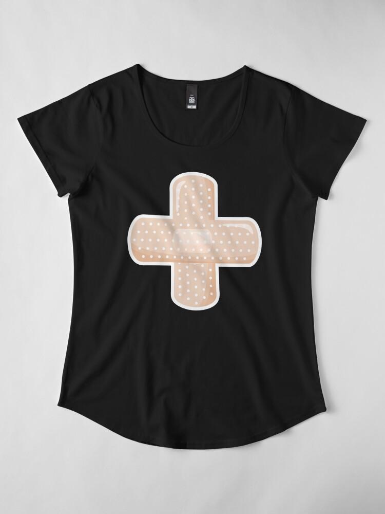 Alternate view of First Aid Plaster Premium Scoop T-Shirt