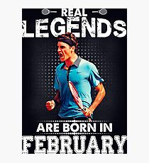 Roger Federer february Legend Tee Shirts Photographic Print