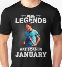 Roger Federer January Legend Tshirt   Unisex T-Shirt