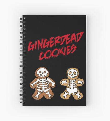 Rise of the Gingerdead cookies for Halloween Spiral Notebook
