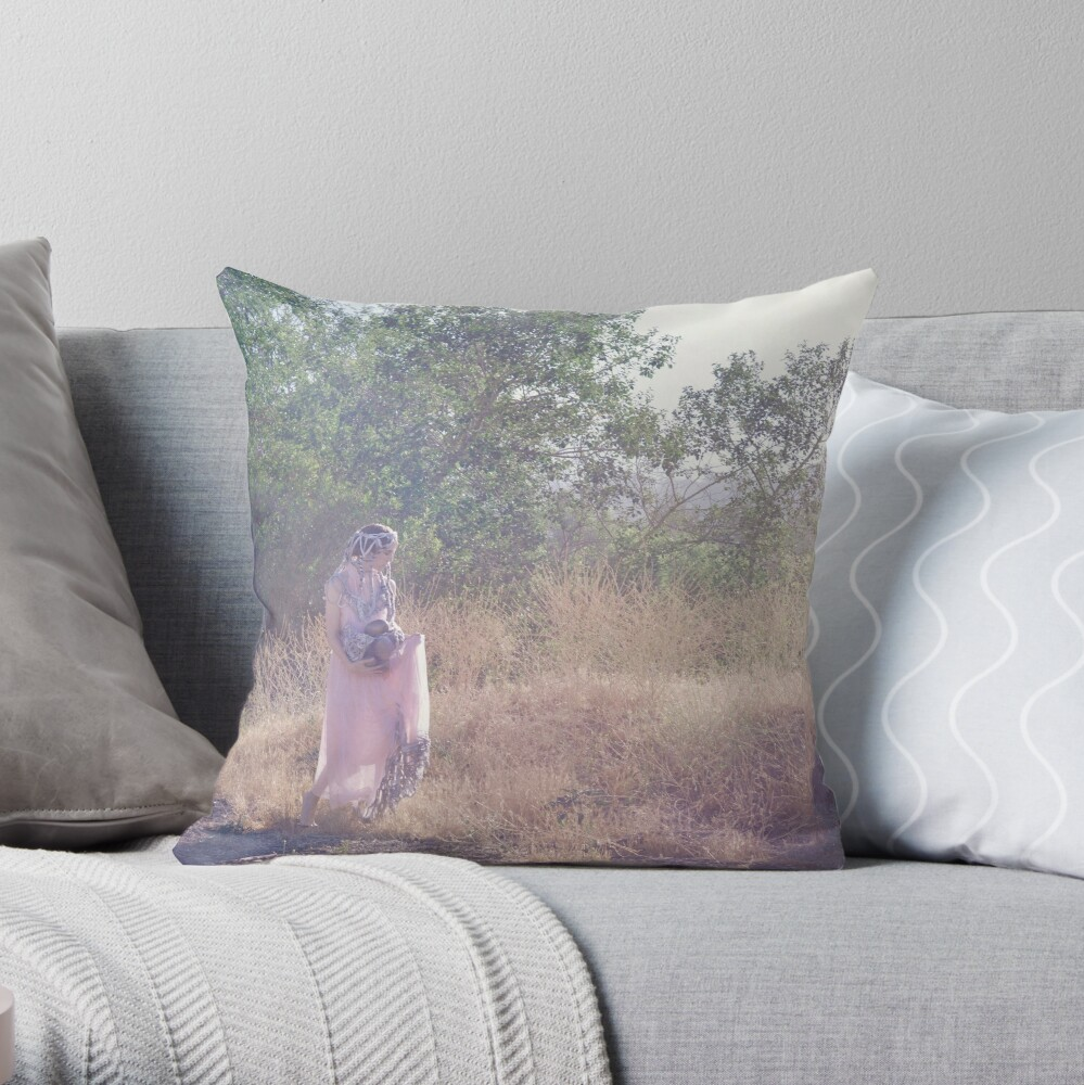 A Journey Into Strange Lands Throw Pillow