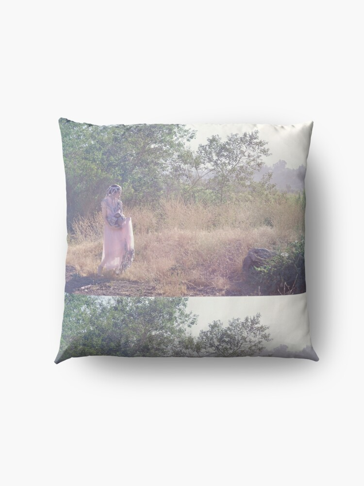 Alternate view of A Journey Into Strange Lands Floor Pillow