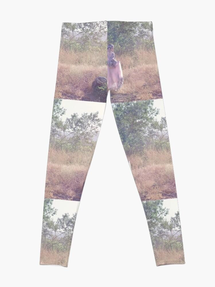 Alternate view of A Journey Into Strange Lands Leggings