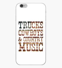 Trucks, Cowboys & Country-Musik iPhone-Hülle & Cover