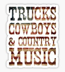 Pegatina Camiones, vaqueros y música country