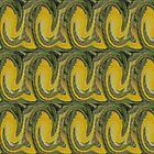Green and Yellow Abstract. by Forfarlass