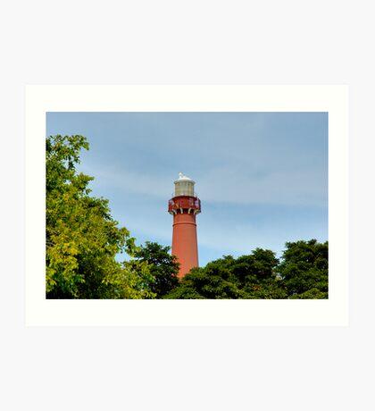 Old Barney - Barnegat Light House NJ - Behind the Trees Art Print