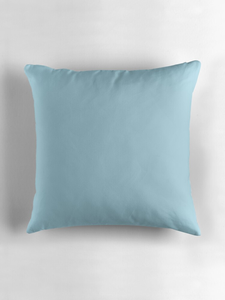 Beautiful Cushions Plain Light Blue Throw Pillows by ozcushions