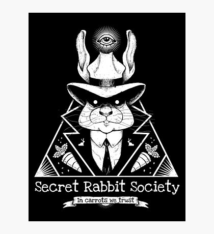 The Secret Rabbit Society Photographic Print