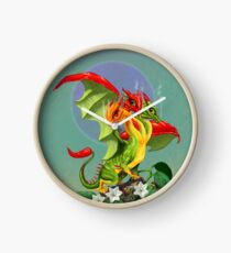 Peppers Dragon Clock