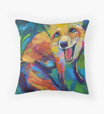 The Happiest Fox Throw Pillow
