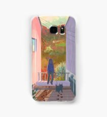 between two buildings  Samsung Galaxy Case/Skin