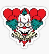 Krusty/Pennywise Mashup Sticker