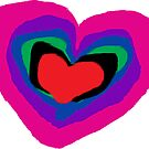 Pride RainBow Heart Pink Heart Purple Heart by EllenDaisyShop