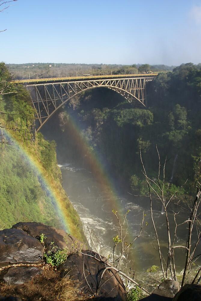 Double rainbow, Victoria Falls by Thunderchunky
