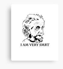 """""""I Am Very Smart"""" Misspelled under Einstein's Face Canvas Print"""