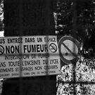 Smoke-free zone by Pascale Baud
