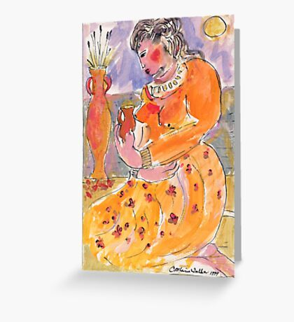 Middle eastern princess Greeting Card