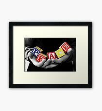 Peace .... it's in their hands. Framed Print