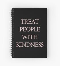 Treat People With Kindness Black & Pink Spiral Notebook