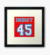 Indict 45 Framed Print