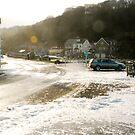 Sandsend at spring tide by dougie1
