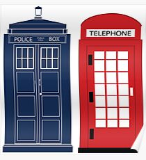 Dr. Who Phone Booth Poster