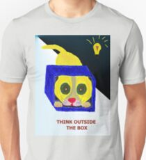 Think Outside the Box Color Black and White T-Shirt