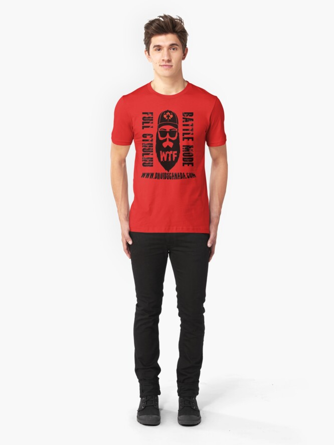Alternate view of Even The Mountain Man has merch Slim Fit T-Shirt