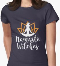 Namaste Witches Yoga Pattern Women's Fitted T-Shirt