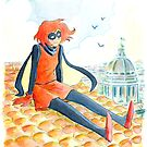 Bandette - Watercolor by colleencoover