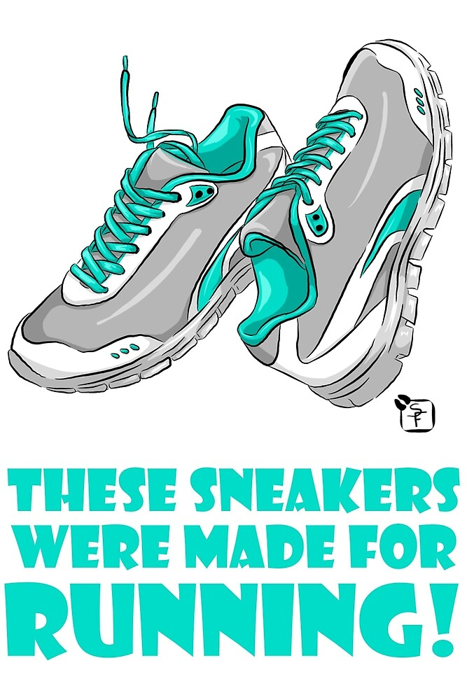 These sneakers were made for RUNNING! by SonneFaunArt